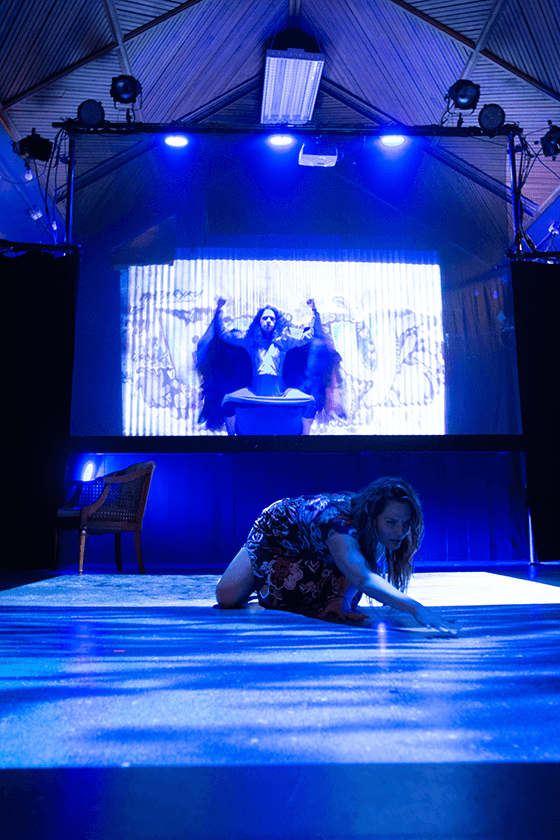 Isaly Viana (Raya) and Tamika Lecheé Morales (Lena) in Halcyon Theatre's De Troya, photo by Tom McGrath.