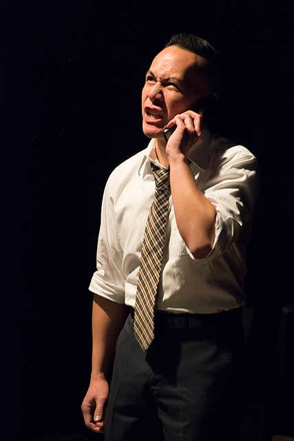 Gordon Chow in Halycon Theatre and A-Squared Theatre's AMERICAN HWANGAP, directed by Helen Young. Photo by Marivi Ortiz