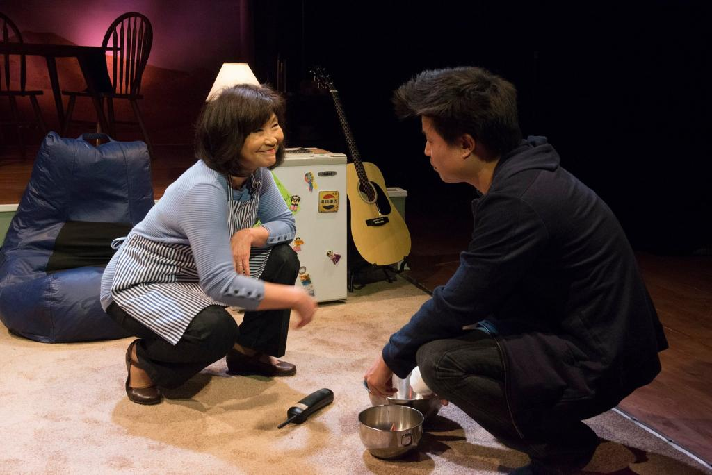 Cheryl Hamada as Mary Chun and Jin Kim as Ralph Chun in Halcyon Theatre and A-Squared Theatre's co-production of AMERICAN HWANGAP, photo by Marivi Ortiz