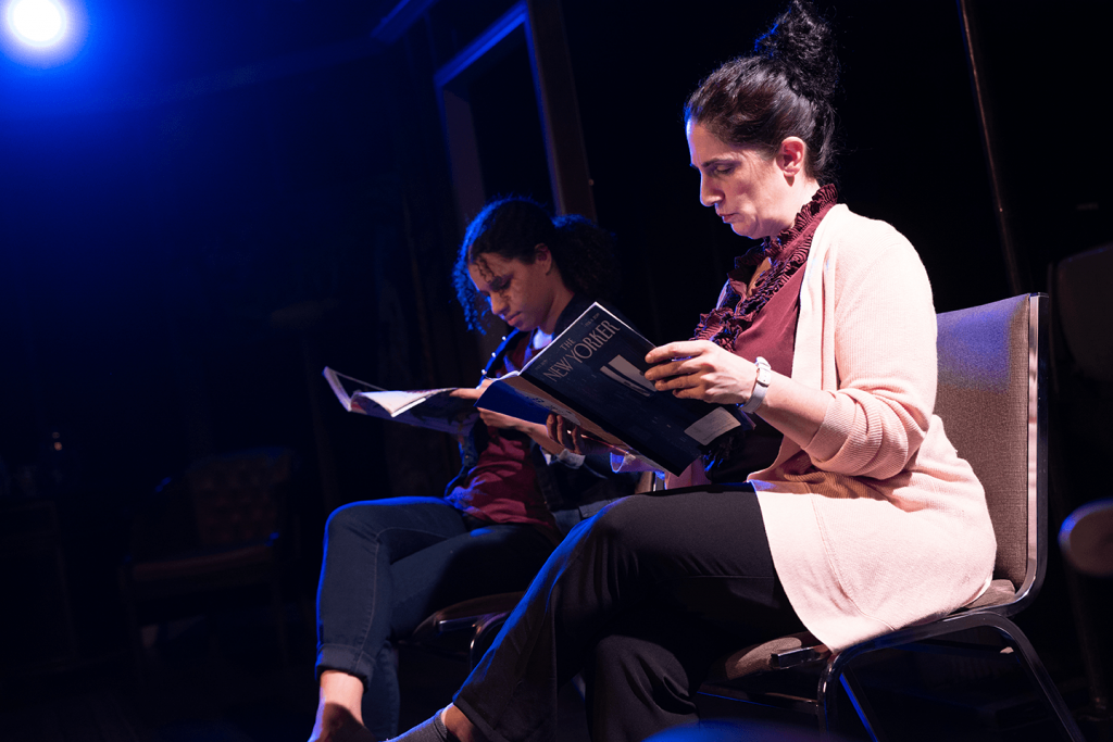 Kianna Rose (Mary) and Jenn Adams (Bonnie) in Halcyon Theatre's The Worst Mother in the World, photo by Tom McGrath.